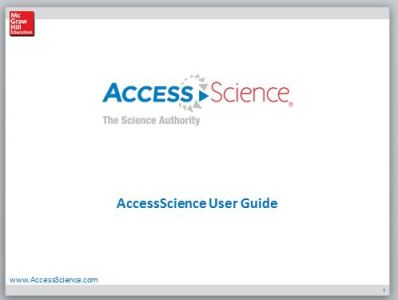 AccessScience User Guide