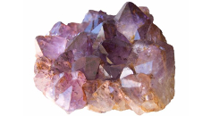 purple crystallized rock