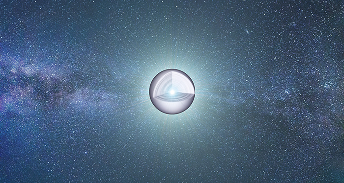 An artist's impression of a white dwarf star, cutaway to show its inner core that has turned out to be both more massive and more oxygen-loaded than theoretical models have suggested.