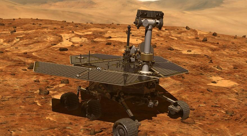 Artist's impression of the Opportunity rover on Mars