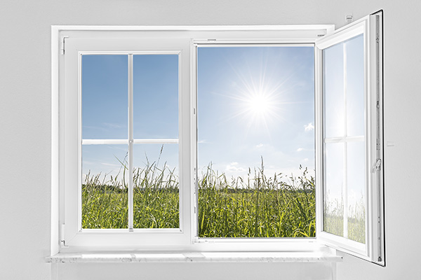 open window with view outdoors