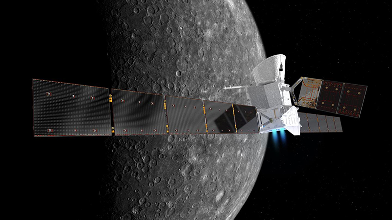 Artist's impression of BepiColombo at Mercury