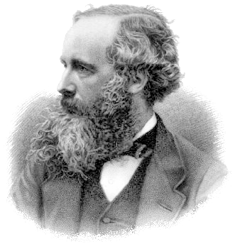 James Clerk Maxwell portrait in grayscale, side profile angle
