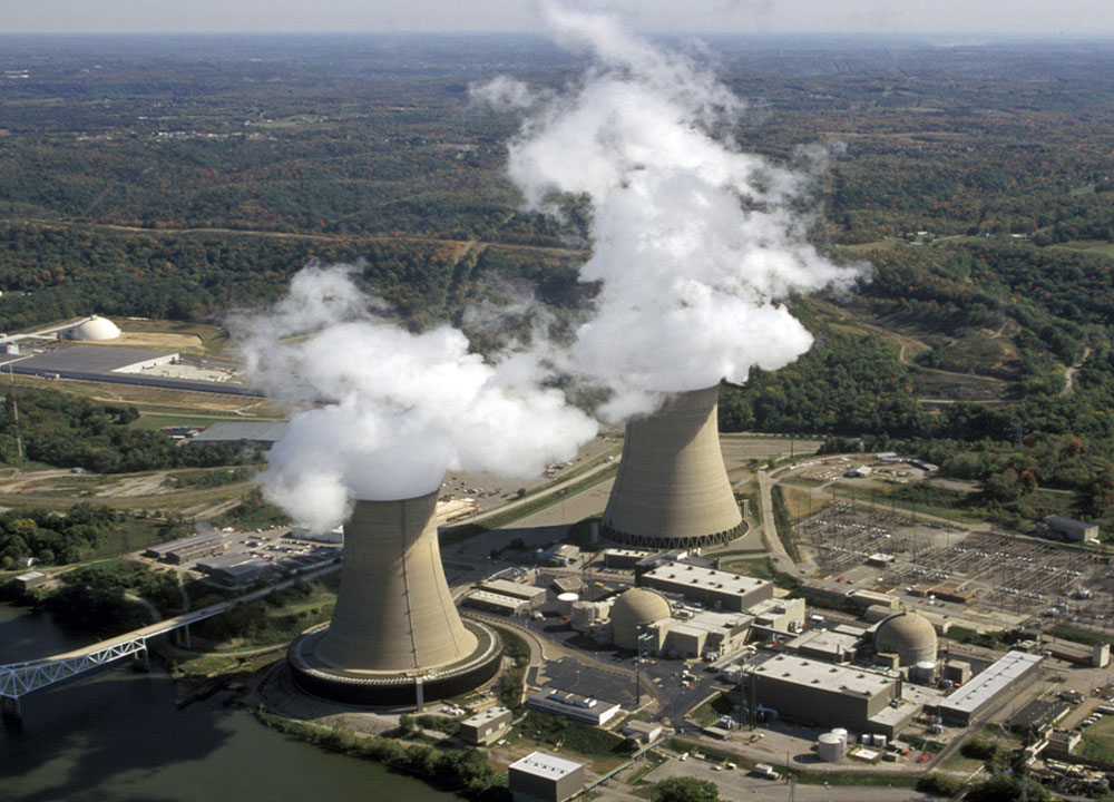 Condensation of steam from nuclear power plant