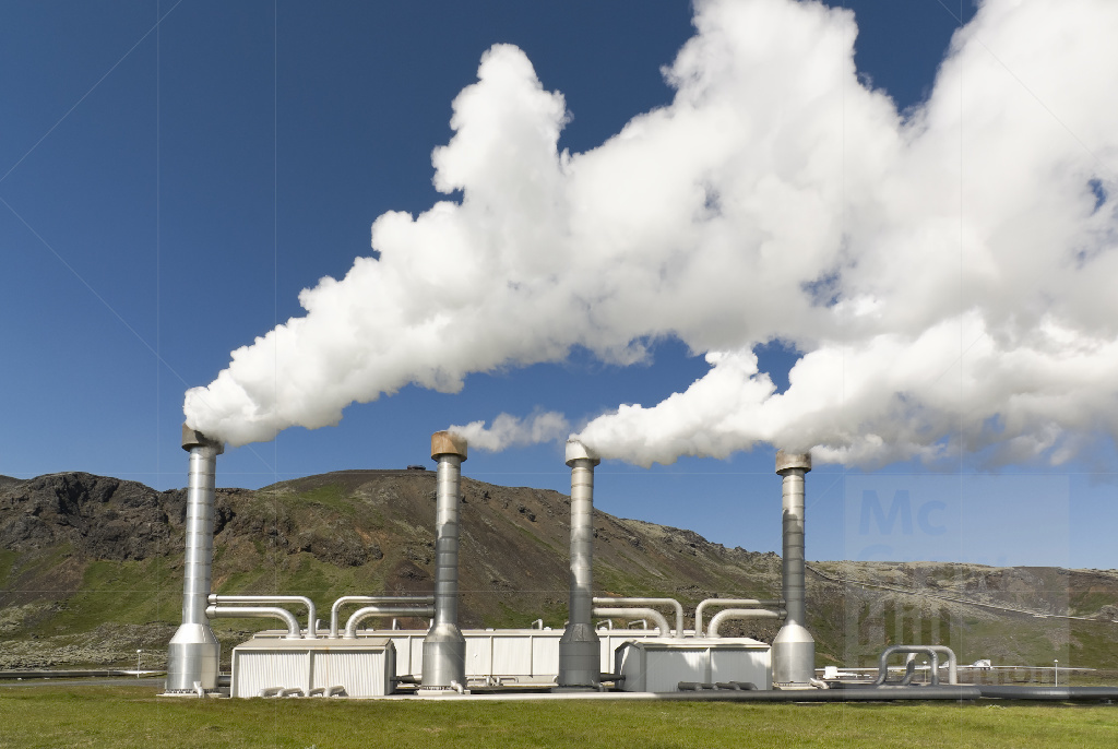 This is a photo of a geothermal power plant